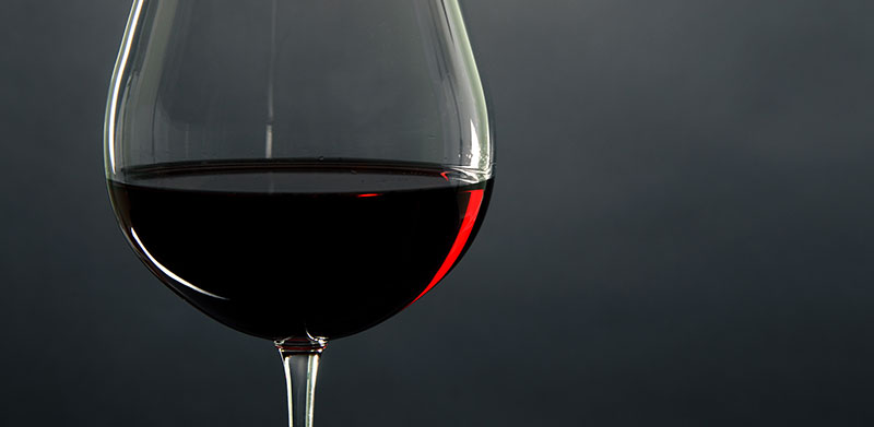 Photo of glass of red wine